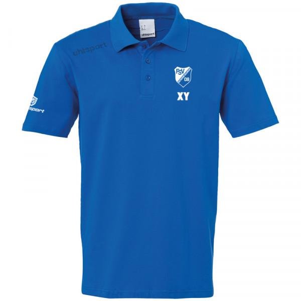 Team Polo-Shirt / azurblau
