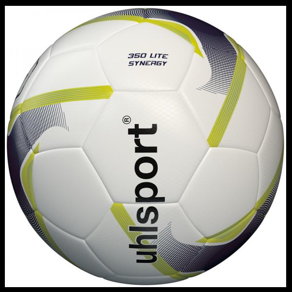 Spiel- und Trainingsball 350 Lite Synergy / weiß-marine-fluogelb