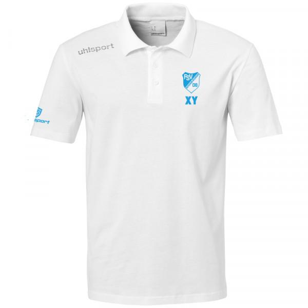 Trainer Polo-Shirt / weiß