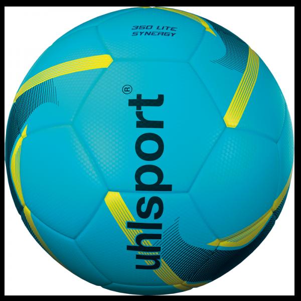 Spiel- und Trainingsball 350 Lite Synergy / eisblau-schwarz-fluo gelb