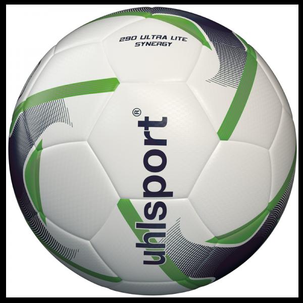 Spiel- und Trainingsball 290 Ultra Lite Synergy / weiß-marine-fluo grün